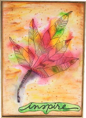 Autumn Leaf Card - Inspire