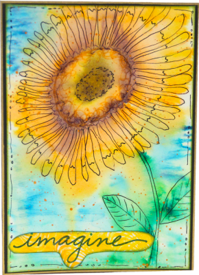 Sunflower Card - Imgine