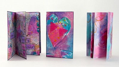 Cards Made With Dylusions Peek Inside
