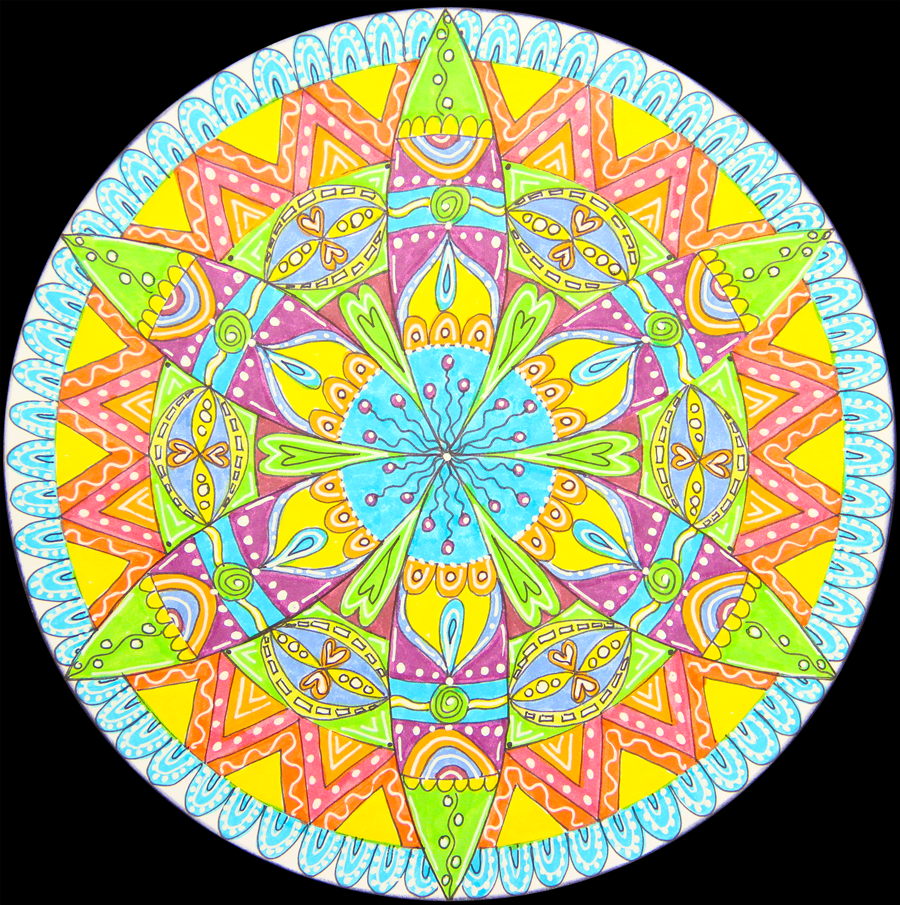 how to draw a mandala with a compass howtogetcreativecom