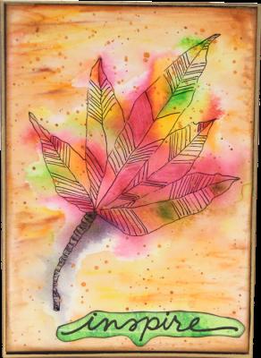 Autumn Leaf Card - Inspire